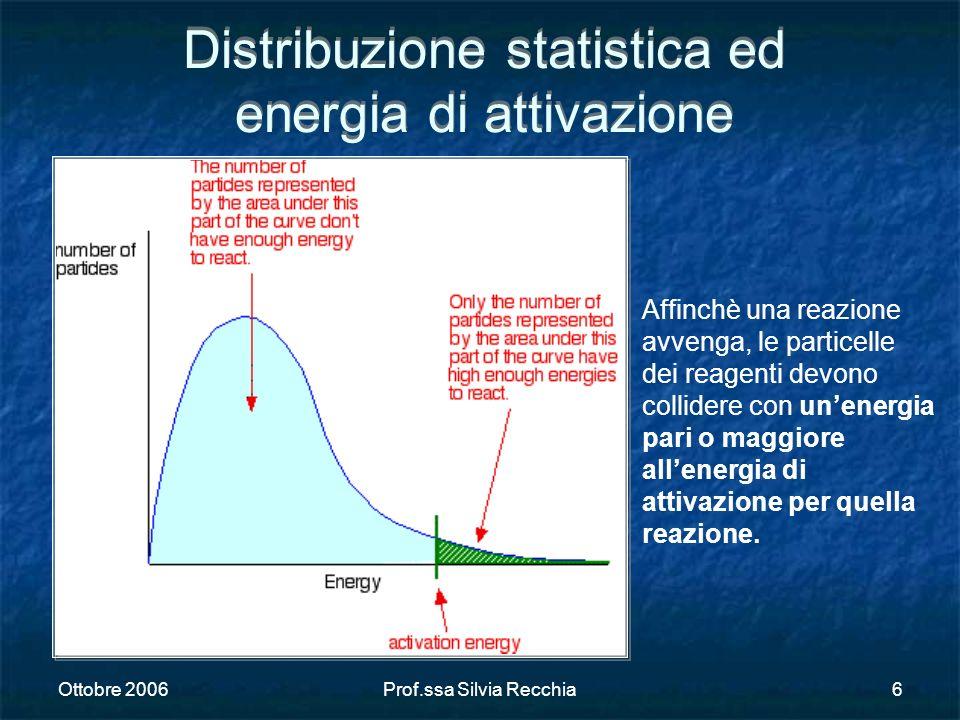 Distribuzione statistica ed energia di attivazione