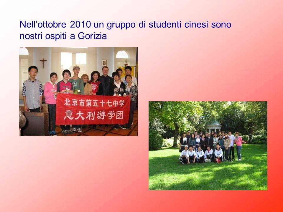 Nell'ottobre 2010 un gruppo di studenti cinesi sono nostri ospiti a Gorizia