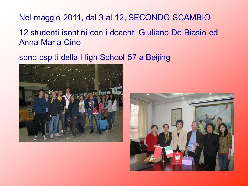 Nel maggio 2011, dal 3 al 12, SECONDO SCAMBIO