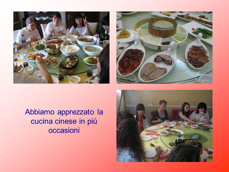 Abbiamo apprezzato la cucina cinese in più occasioni