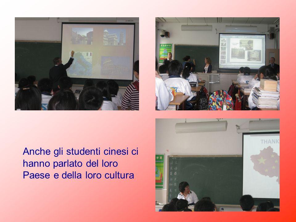 Anche gli studenti cinesi ci hanno parlato del loro Paese e della loro cultura
