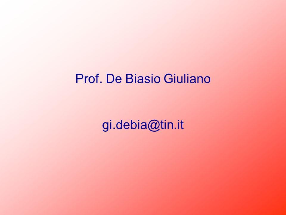 Prof. De Biasio Giuliano