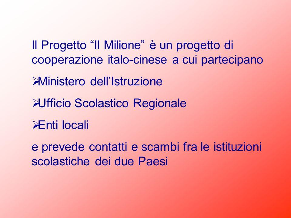 Il Progetto Il Milione è un progetto di cooperazione italo-cinese a cui partecipano