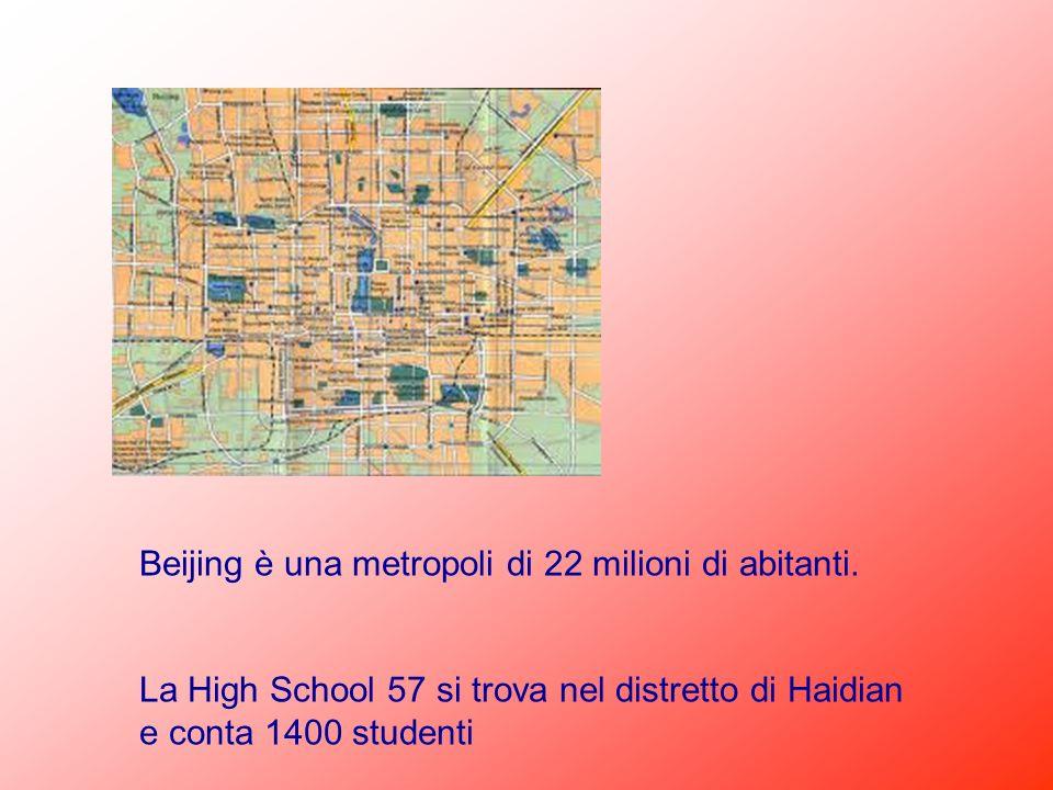 Beijing è una metropoli di 22 milioni di abitanti.