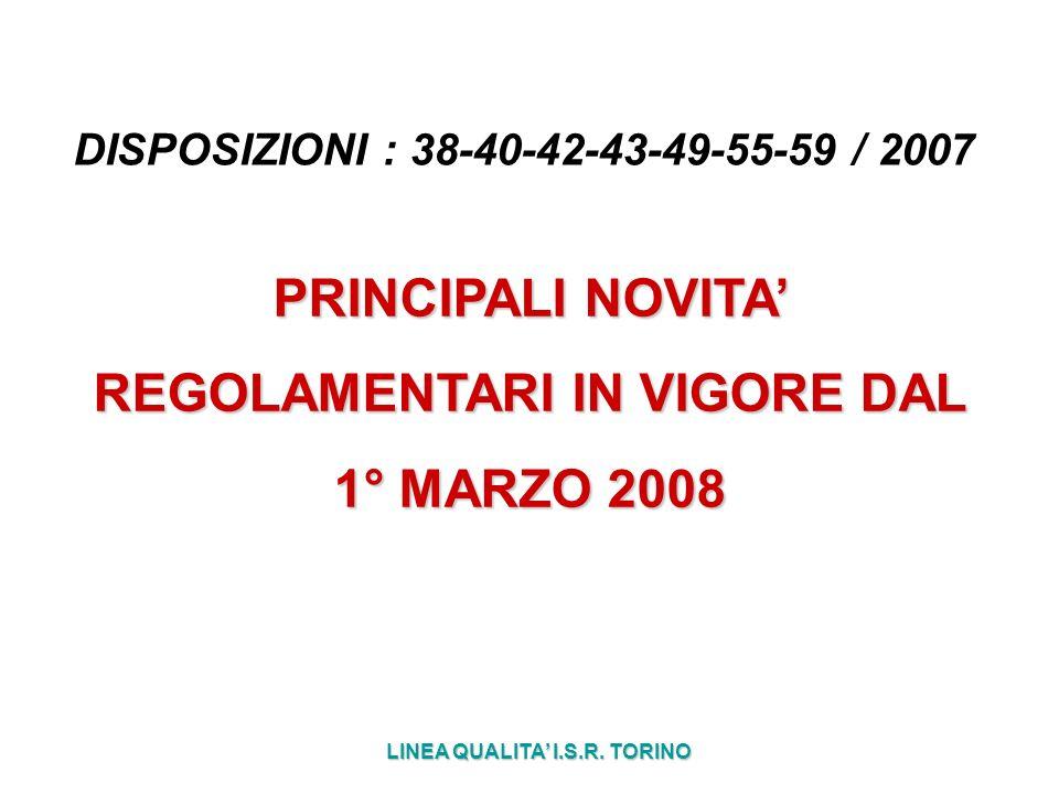 DISPOSIZIONI : 38-40-42-43-49-55-59 / 2007