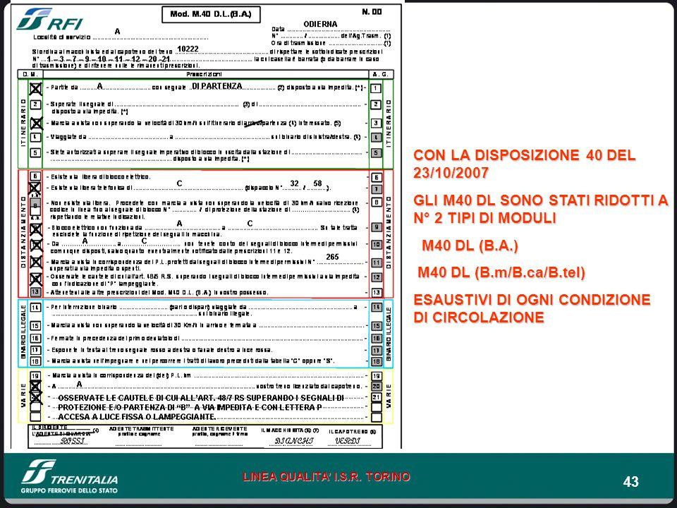 CON LA DISPOSIZIONE 40 DEL 23/10/2007