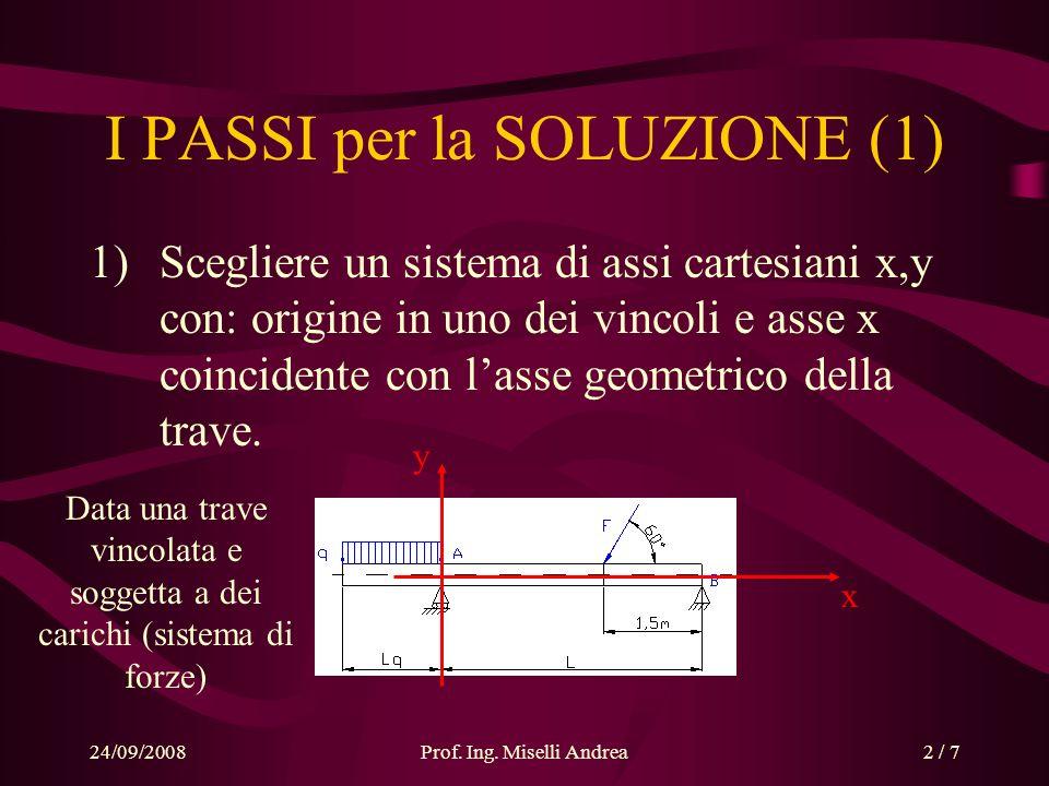 I PASSI per la SOLUZIONE (1)