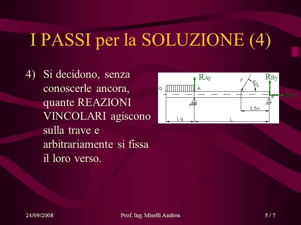 I PASSI per la SOLUZIONE (4)