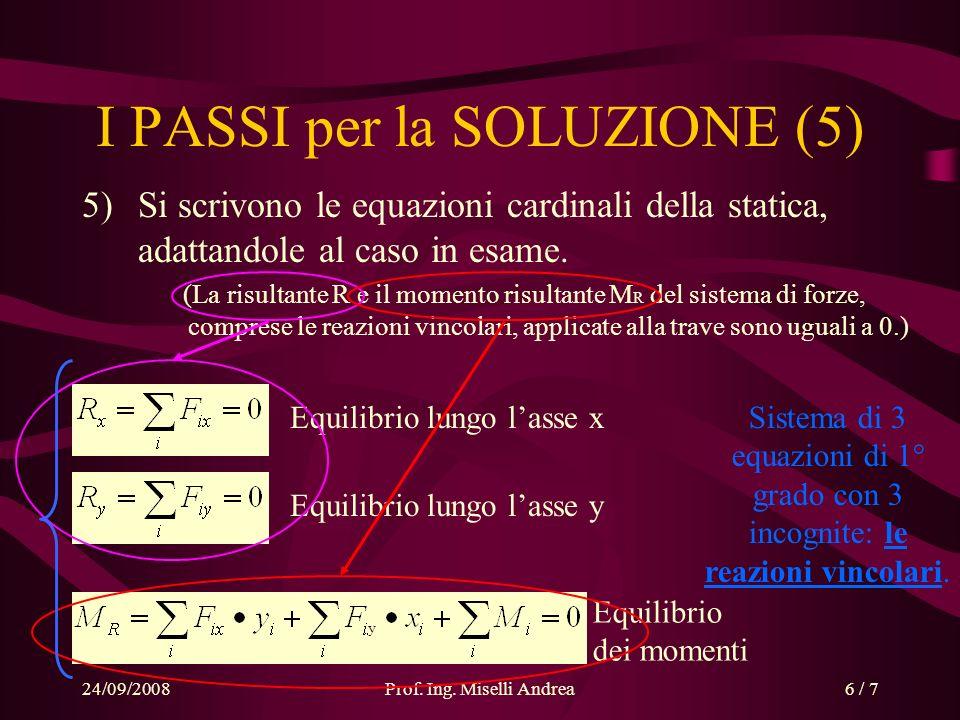 I PASSI per la SOLUZIONE (5)