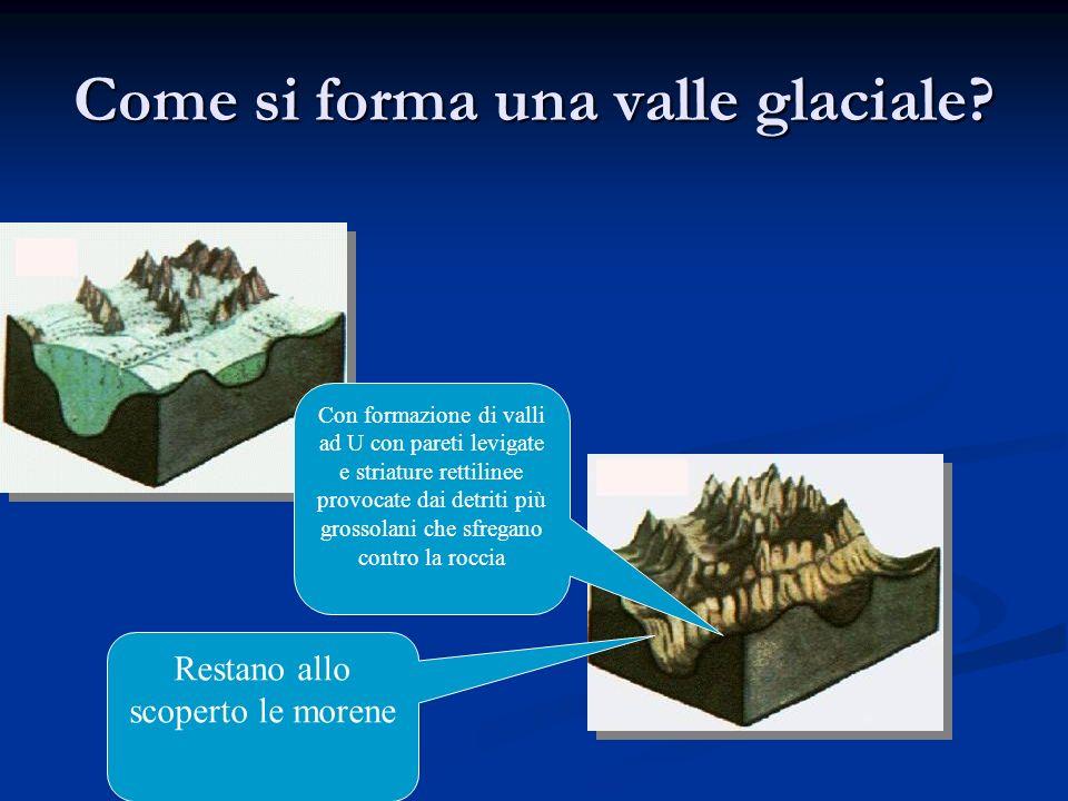 Come si forma una valle glaciale