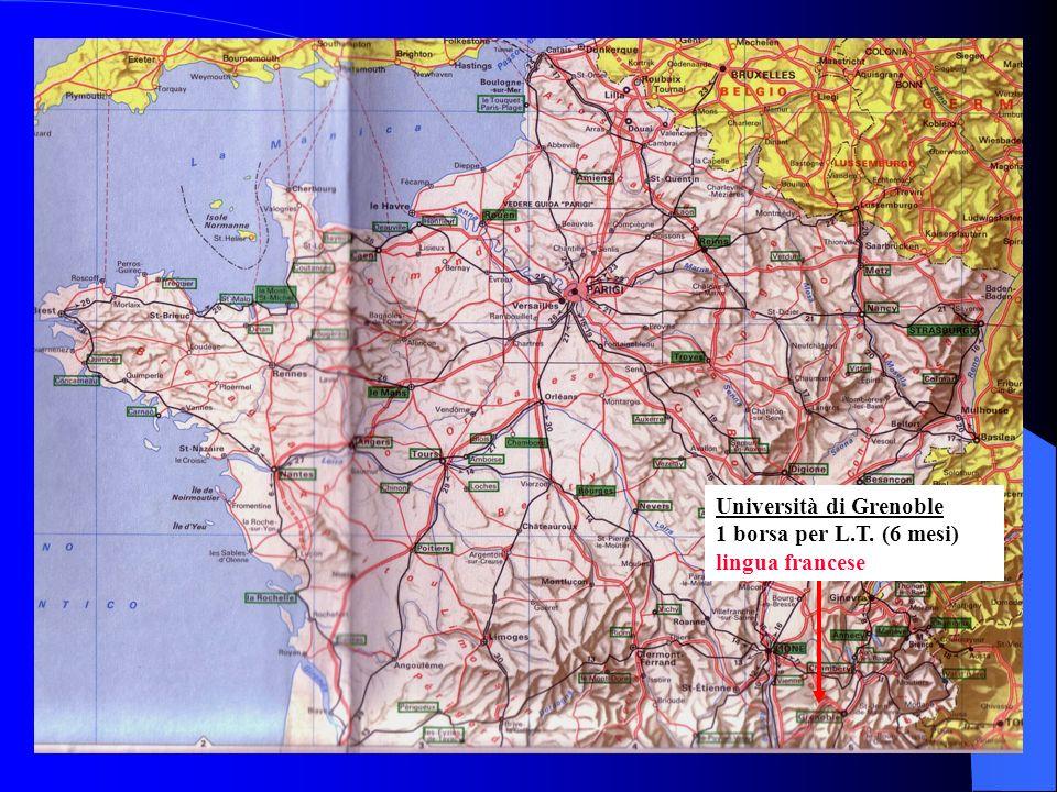 Università di Grenoble 1 borsa per L.T. (6 mesi) lingua francese