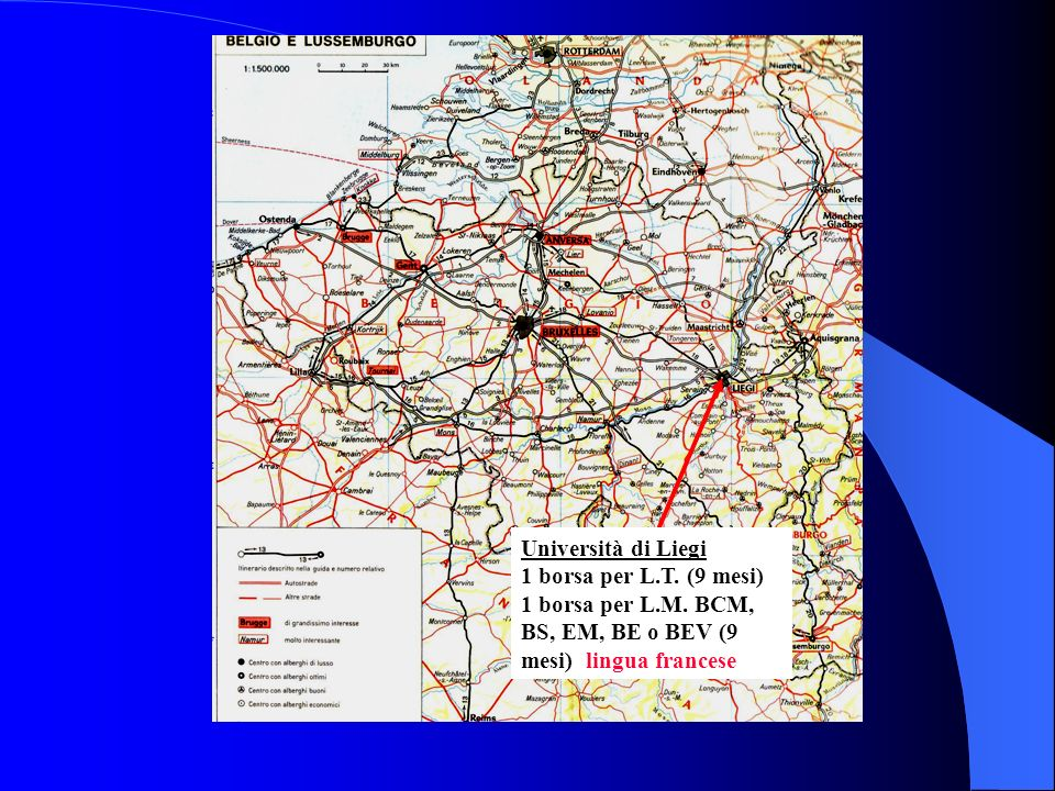 Università di Liegi 1 borsa per L. T. (9 mesi) 1 borsa per L. M