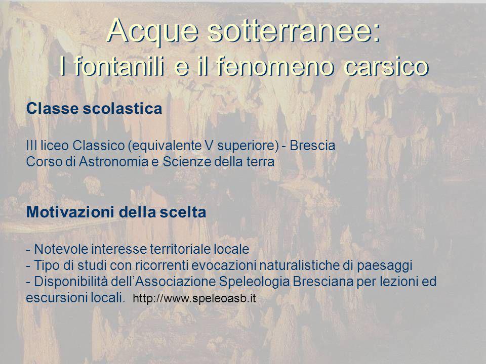 Acque sotterranee: I fontanili e il fenomeno carsico