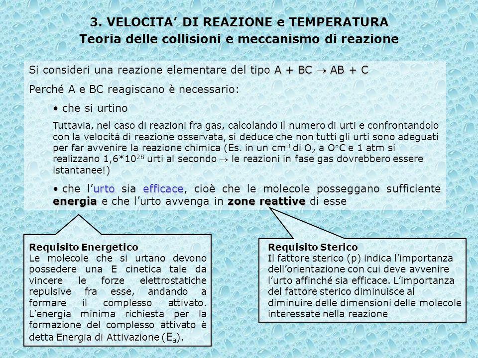 3. VELOCITA' DI REAZIONE e TEMPERATURA