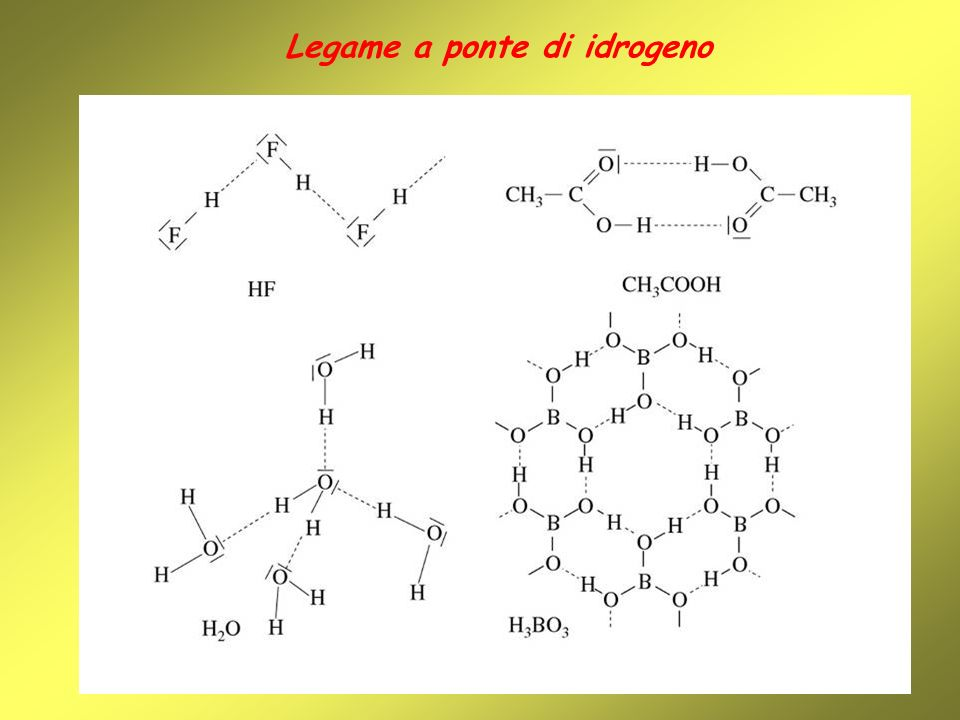 Legame a ponte di idrogeno