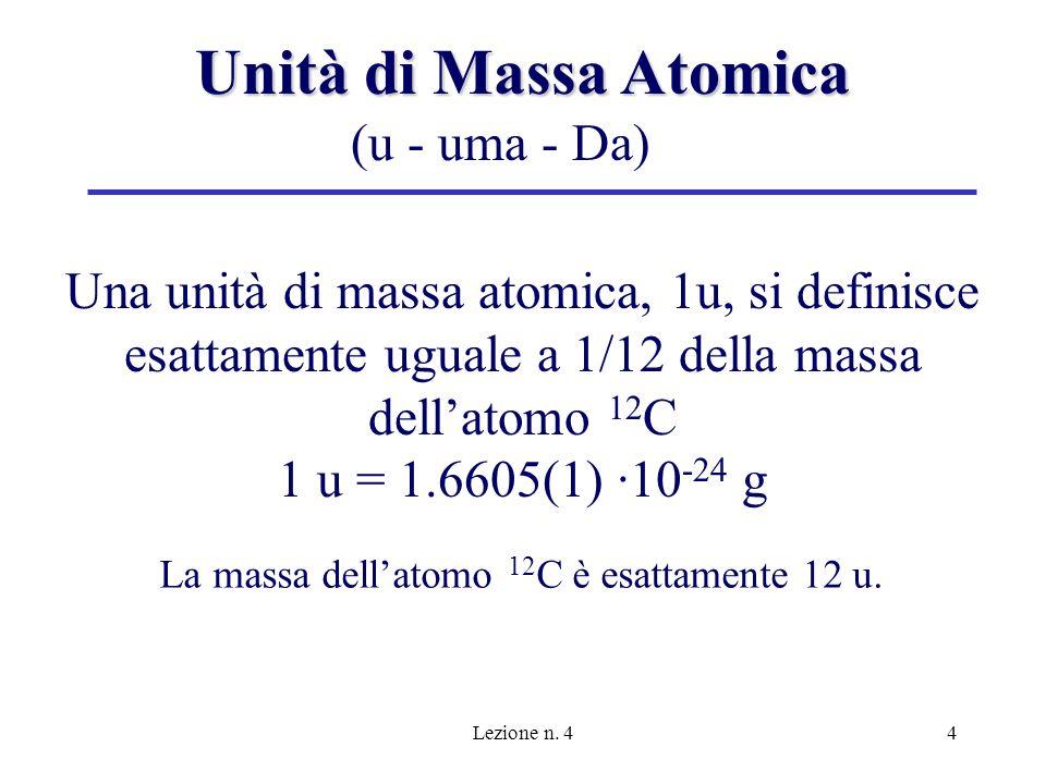 Unità di Massa Atomica (u - uma - Da)