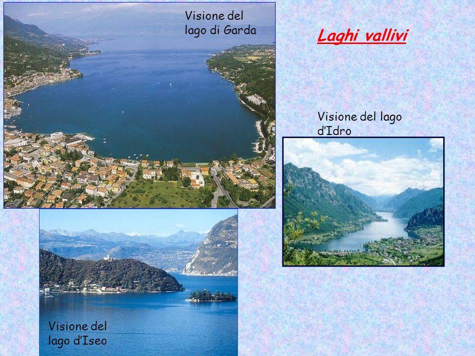 Laghi vallivi Visione del lago di Garda Visione del lago d'Idro