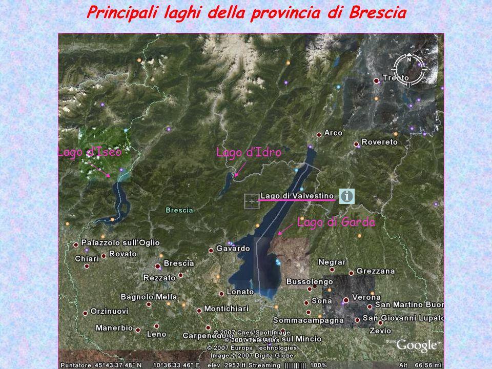 Principali laghi della provincia di Brescia