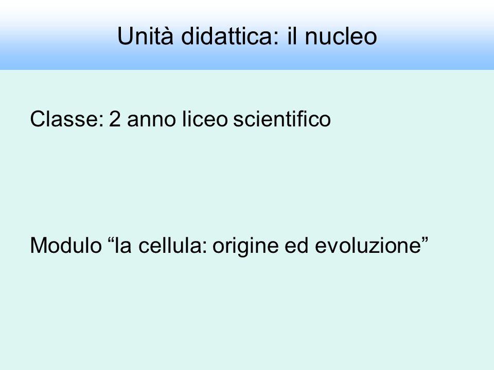 Unità didattica: il nucleo