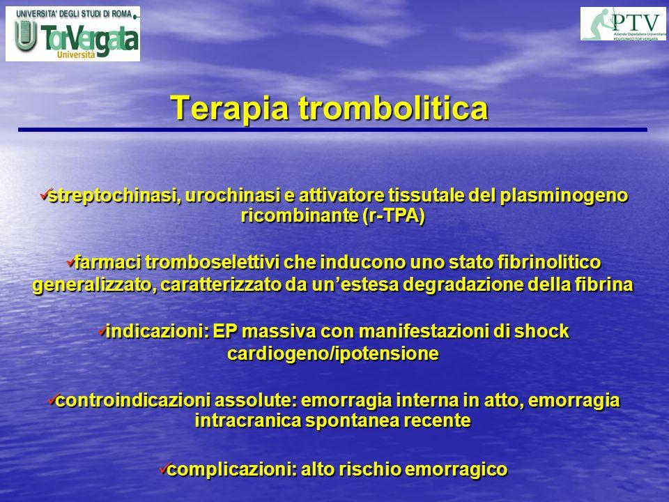 complicazioni: alto rischio emorragico