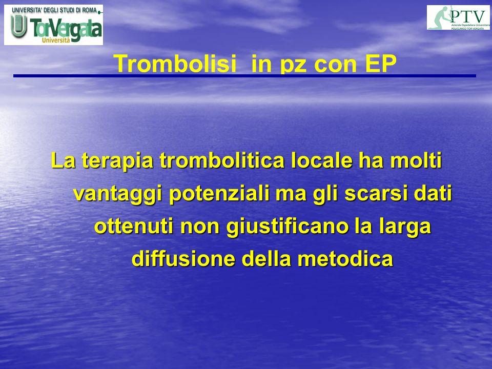 Trombolisi in pz con EP