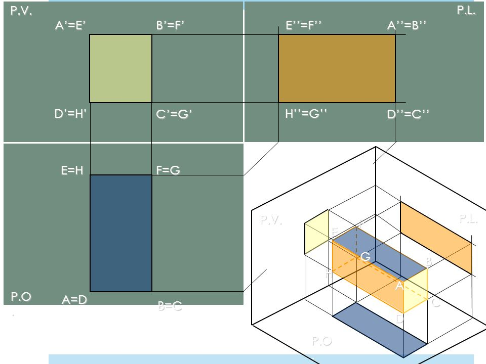 P.V. P.L. A'=E' B'=F' E''=F'' A''=B'' D'=H' C'=G' H''=G'' D''=C'' E=H