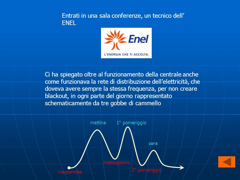 Entrati in una sala conferenze, un tecnico dell' ENEL