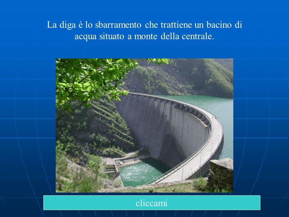 La diga è lo sbarramento che trattiene un bacino di acqua situato a monte della centrale.