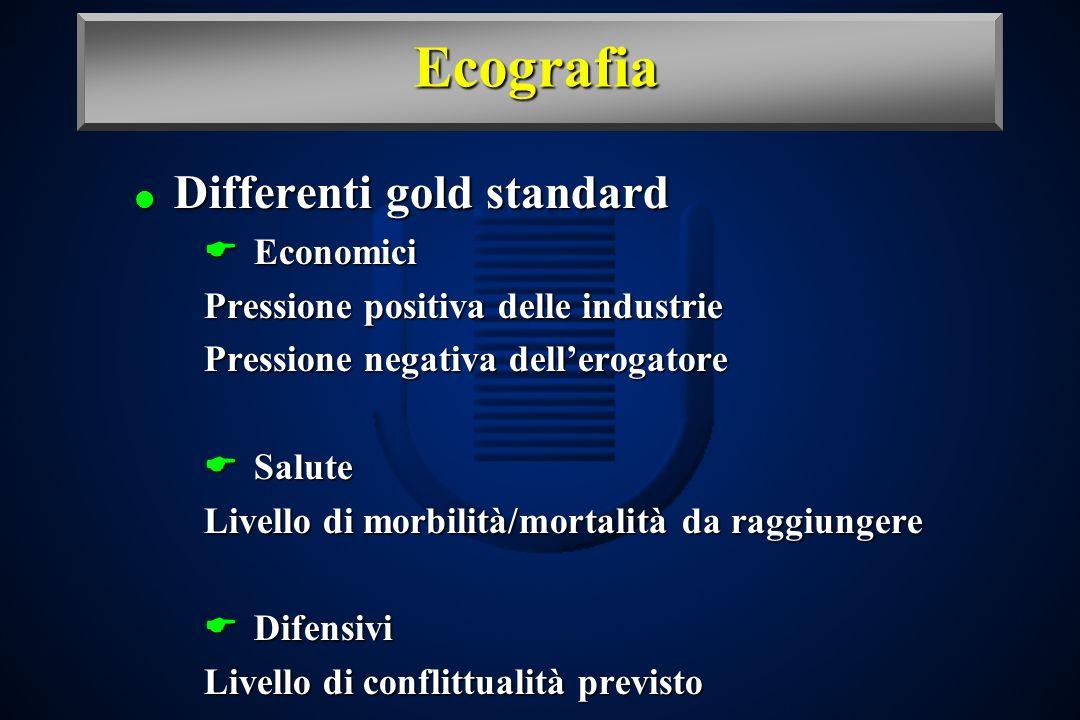 Ecografia Differenti gold standard Economici