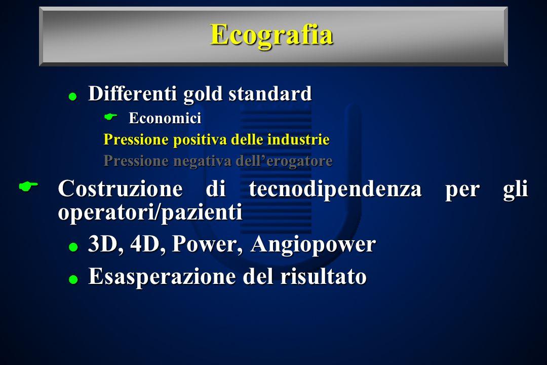 Ecografia Costruzione di tecnodipendenza per gli operatori/pazienti