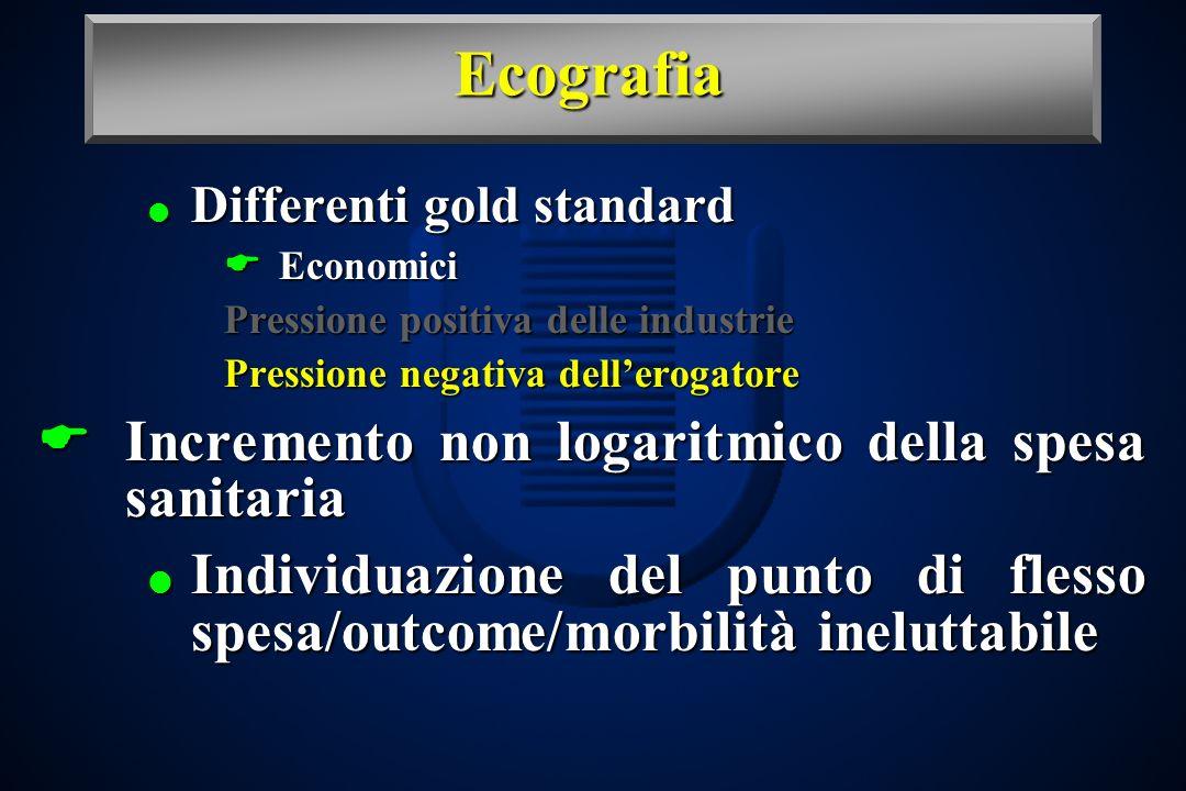 Ecografia Incremento non logaritmico della spesa sanitaria
