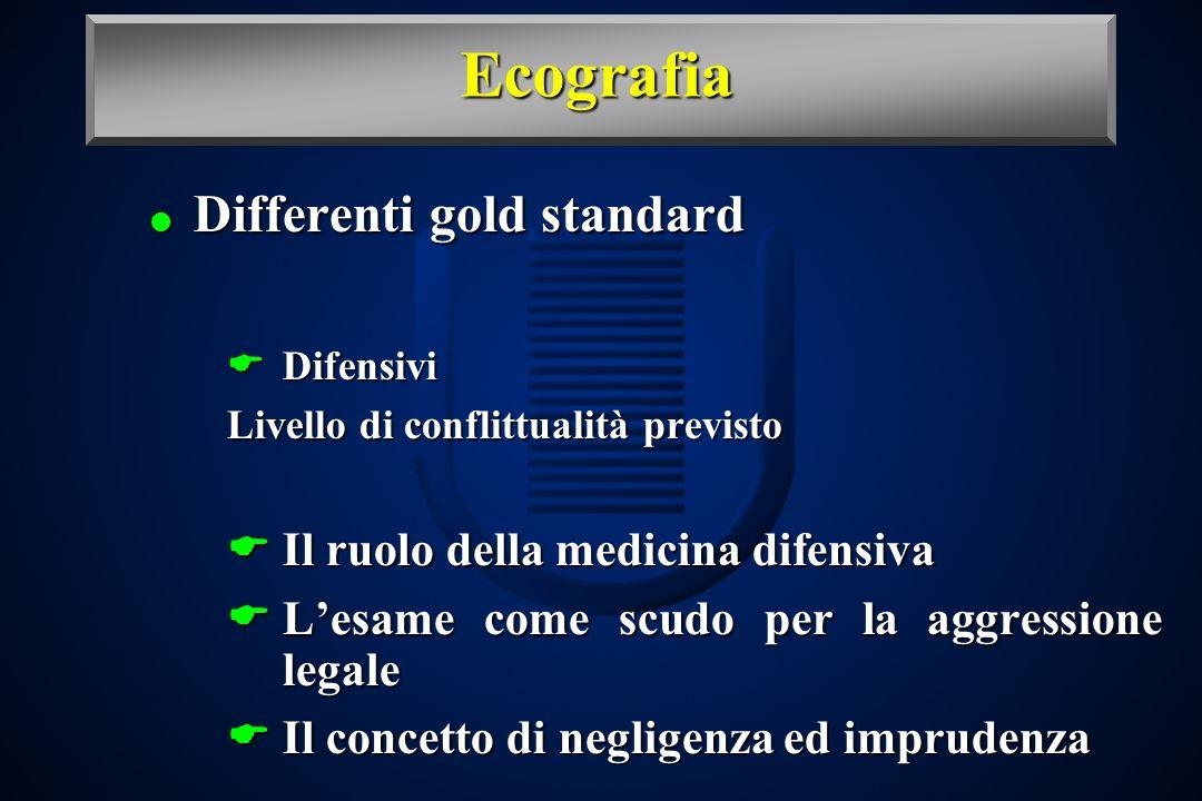 Ecografia Differenti gold standard Il ruolo della medicina difensiva