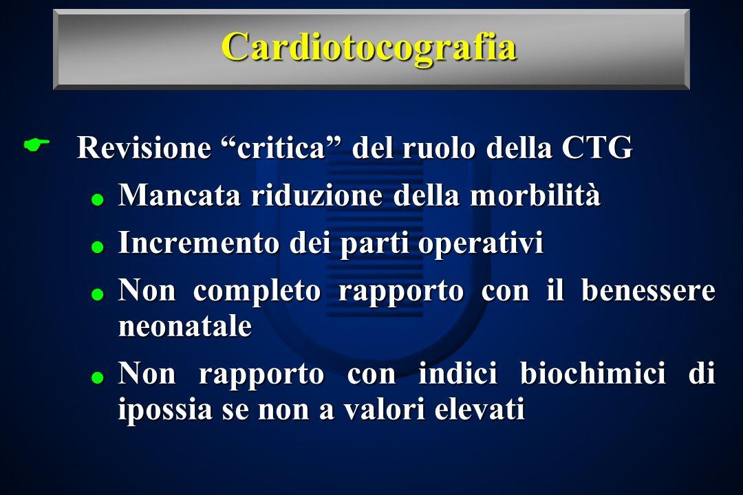 Cardiotocografia Revisione critica del ruolo della CTG