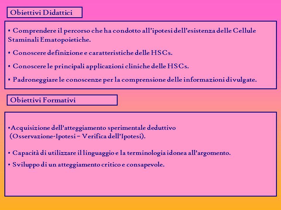 Obiettivi Didattici Obiettivi Formativi