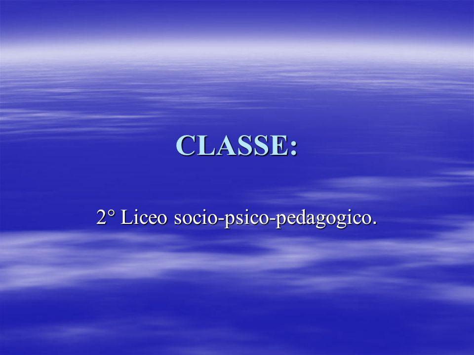 2° Liceo socio-psico-pedagogico.