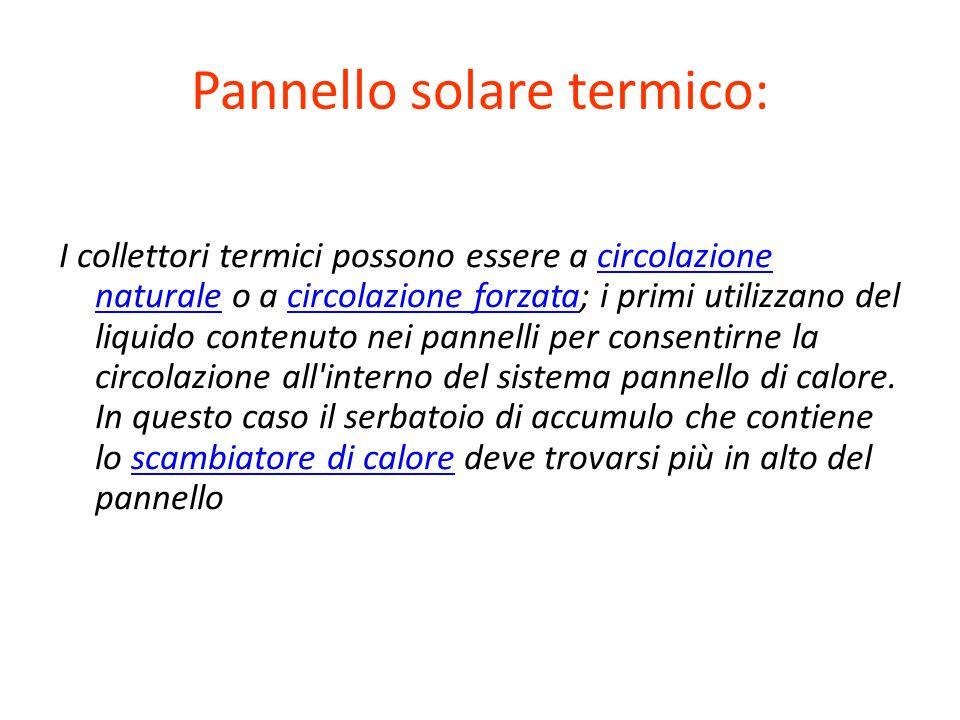 Pannello solare termico: