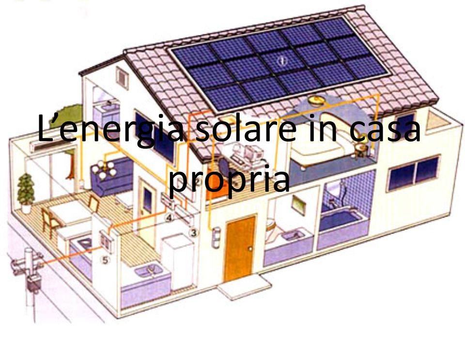 L'energia solare in casa propria