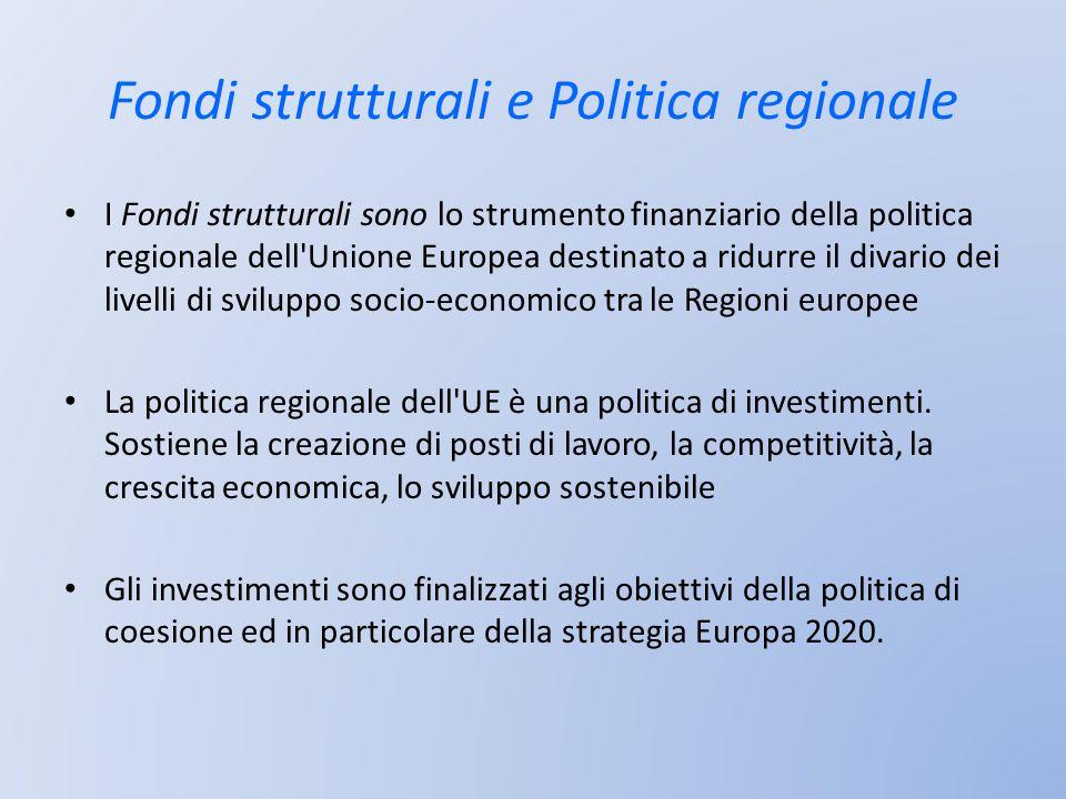 Fondi strutturali e Politica regionale