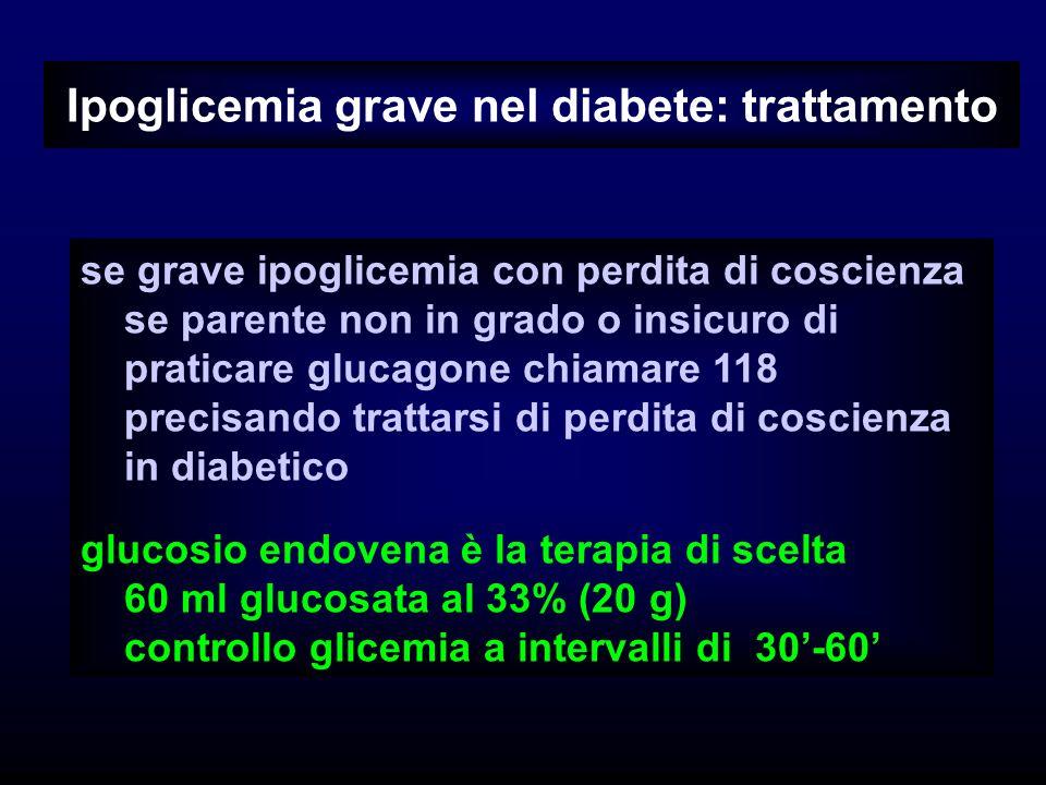 Ipoglicemia grave nel diabete: trattamento