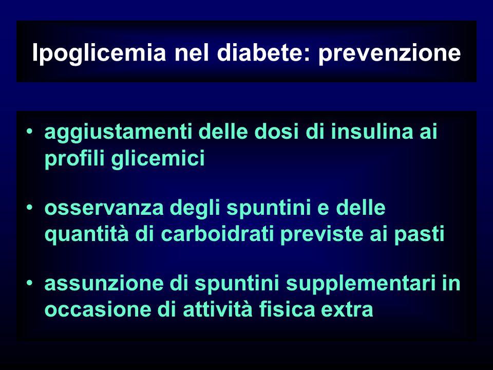 Ipoglicemia nel diabete: prevenzione
