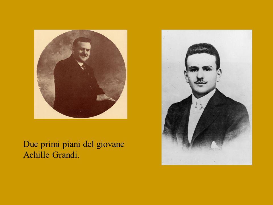 Due primi piani del giovane Achille Grandi.