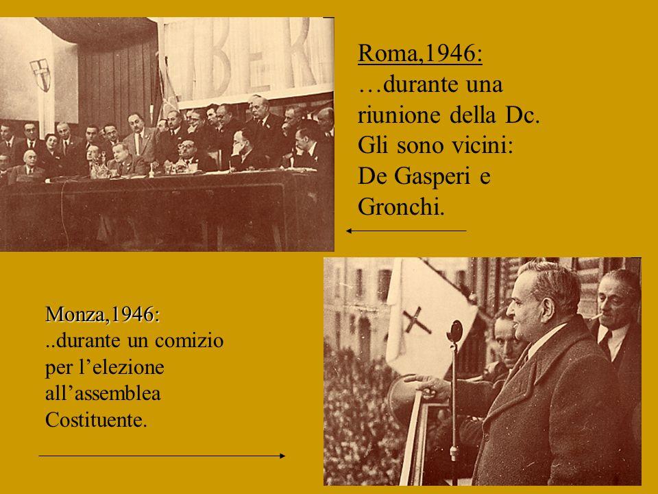 Roma,1946: …durante una riunione della Dc
