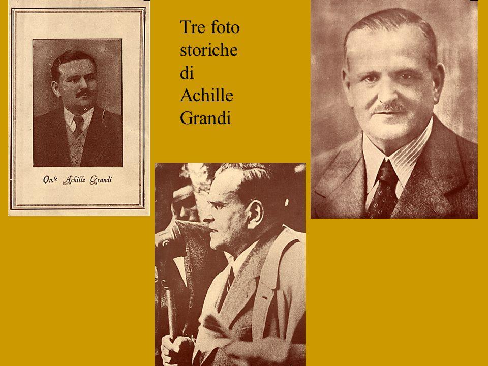 Tre foto storiche di Achille Grandi