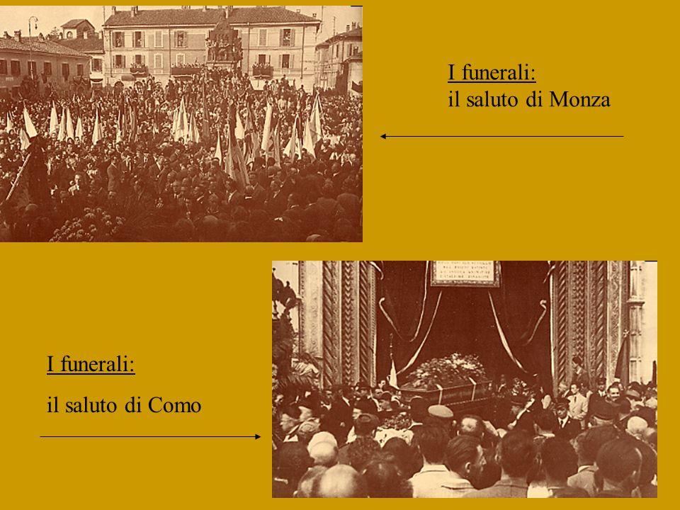 I funerali: il saluto di Monza I funerali: il saluto di Como