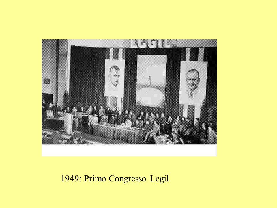 1949: Primo Congresso Lcgil