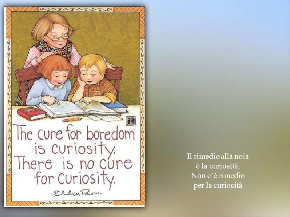 Il rimedio alla noia è la curiosità. Non c'è rimedio per la curiosità