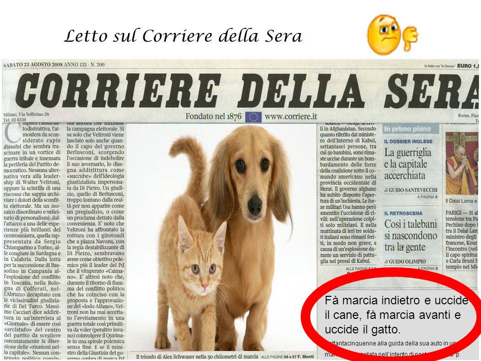 Letto sul Corriere della Sera