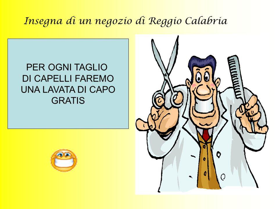 Insegna di un negozio di Reggio Calabria