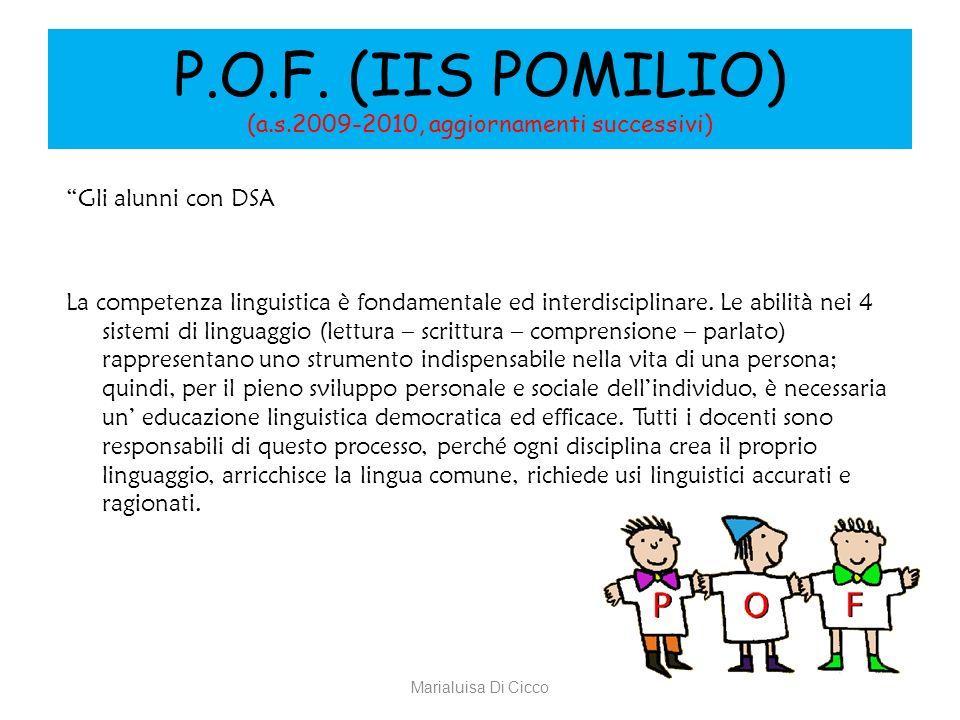 P.O.F. (IIS POMILIO) (a.s.2009-2010, aggiornamenti successivi)