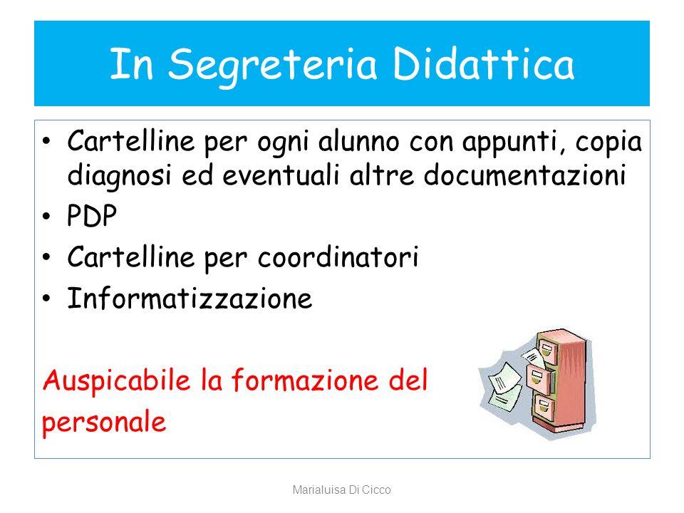 In Segreteria Didattica